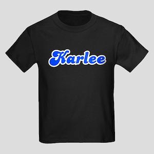 Retro Karlee (Blue) Kids Dark T-Shirt