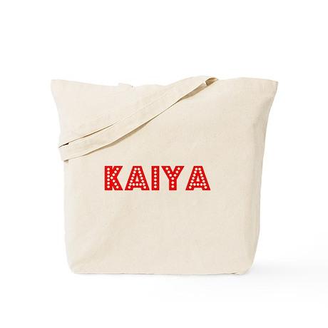 Retro Kaiya (Red) Tote Bag