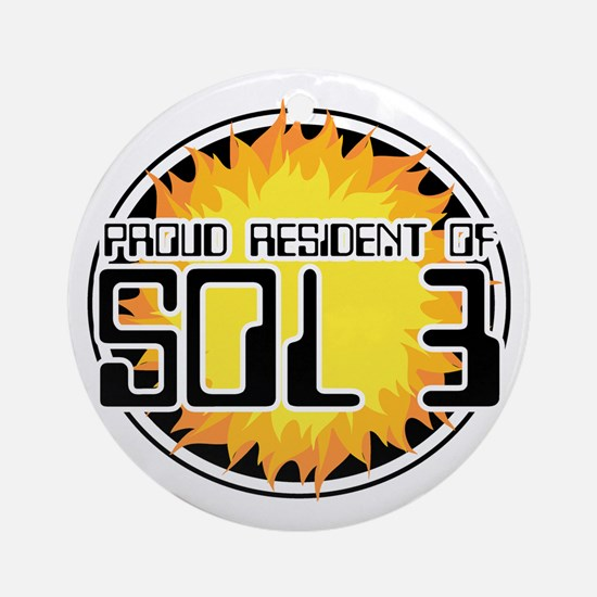 Resident of Sol 3 Ornament (Round)