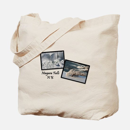 Winter Niagara Falls Tote Bag