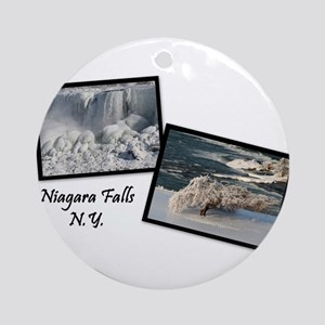 Winter Niagara Falls Ornament (Round)