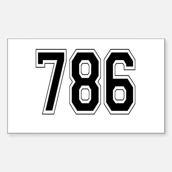 786 Rectangle Decal