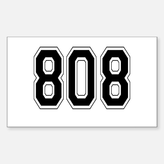 808 Rectangle Decal