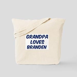 Grandpa loves Branden Tote Bag