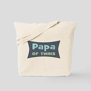 Papa of Twins Tote Bag