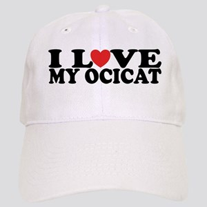 I Love My Ocicat Cap
