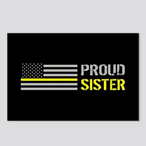 U.S. Flag Yellow Line: Pr Postcards (Package of 8)