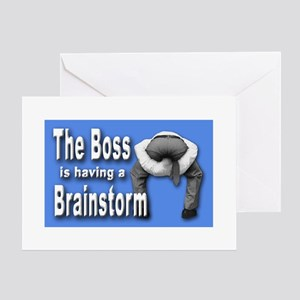 Bad Boss Brainstorm Greeting Cards
