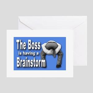 Bad boss greeting cards cafepress bad boss brainstorm greeting cards m4hsunfo