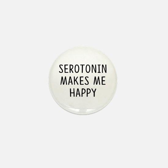 Serotonin Happy Mini Button