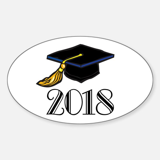 2018 Graduation Oval Decal