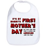 Mommy's First Mother's Day Baby Bib