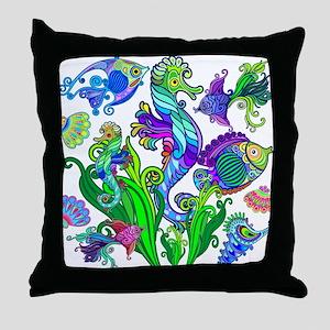 Exotic Marine Life Decorative Style Throw Pillow