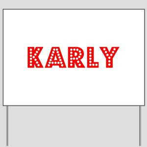 Retro Karly (Red) Yard Sign