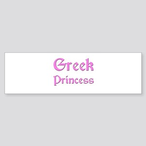 Greek Princess Bumper Sticker