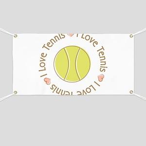 I Love Heart Tennis Banner