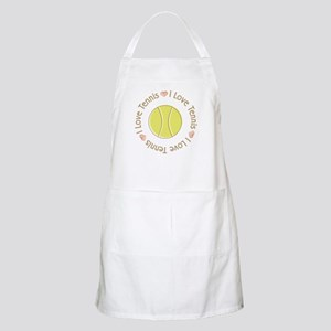I Love Heart Tennis BBQ Apron