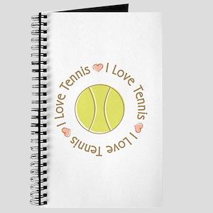 I Love Heart Tennis Journal