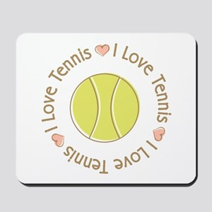 I Love Heart Tennis Mousepad