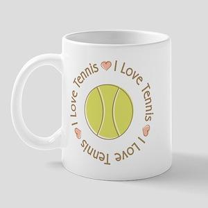 I Love Heart Tennis Mug