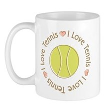 I Love Heart Tennis Mug