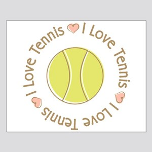 I Love Heart Tennis Small Poster