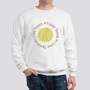 I Love Heart Tennis Sweatshirt