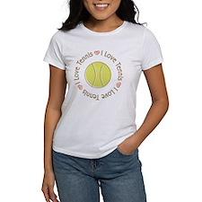 I Love Heart Tennis Women's T-Shirt