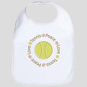 Peace Love Tennis Bib