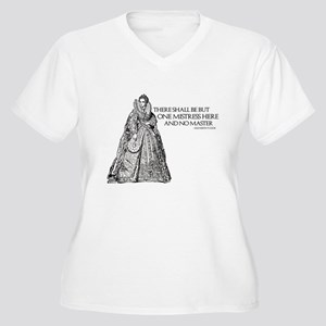 One Mistress Here Women's Plus Size V-Neck T-Shirt