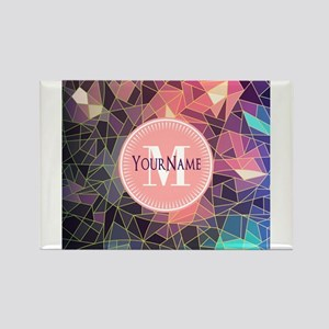 Colorful Mosaic Pattern Personalized Magnets