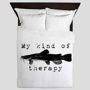 Catfish, my kind of therapy. Queen Duvet
