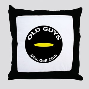 Old Guys Disc Golf Club Throw Pillow