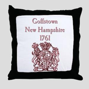 Goffstown NH 1761 Crest Throw Pillow