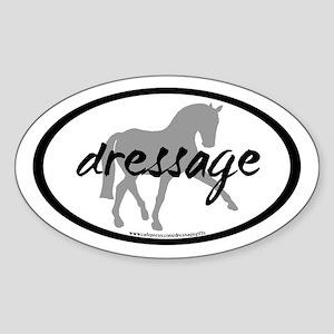 Dressage Sidepass w/ Text (C) Oval Sticker