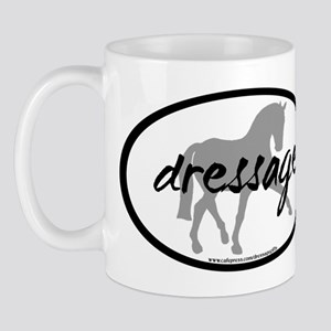 Dressage Sidepass w/ Text Mug
