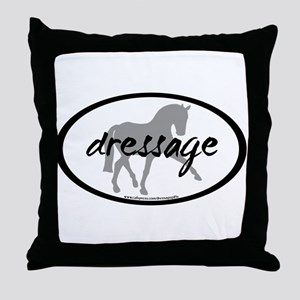Dressage Sidepass w/ Text Throw Pillow