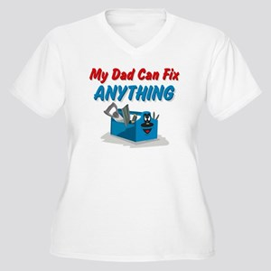 Fix Anything Dad Women's Plus Size V-Neck T-Shirt