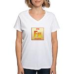 Iron Women's V-Neck T-Shirt