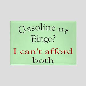 gas or bingo Rectangle Magnet