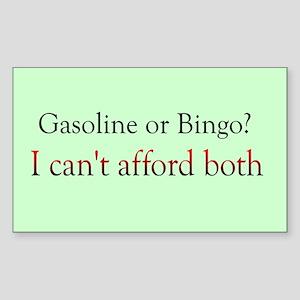 gas or bingo Rectangle Sticker