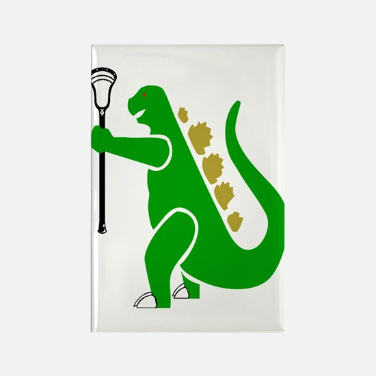 Lacrosse Laxasaurus 1 Rectangle Magnet