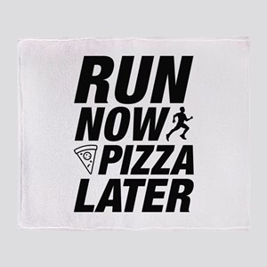 Run Now Pizza Later Stadium Blanket