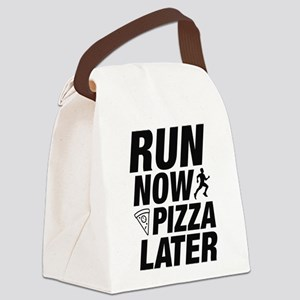 Run Now Pizza Later Canvas Lunch Bag