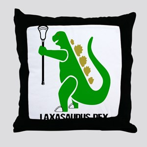 Lacrosse Laxasaurus 1 Throw Pillow