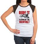 Ride it Like a Rental Women's Cap Sleeve T-Shirt