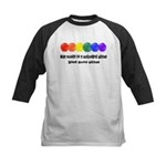 The world is a colorful place Kids Baseball Jersey