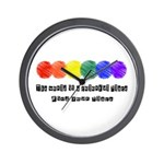 The world is a colorful place Wall Clock