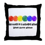 The world is a colorful place Throw Pillow