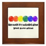 The world is a colorful place Framed Tile